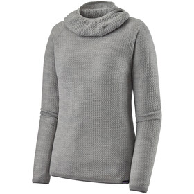 Patagonia Capilene Air Sudadera Capucha Mujer, feather grey/birch white x-dye